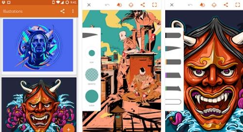 cara menggambar anime di android
