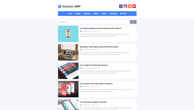 Sahabat AMP Responsive Blogger Template
