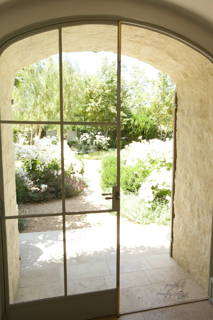 Front door looking out to courtyard