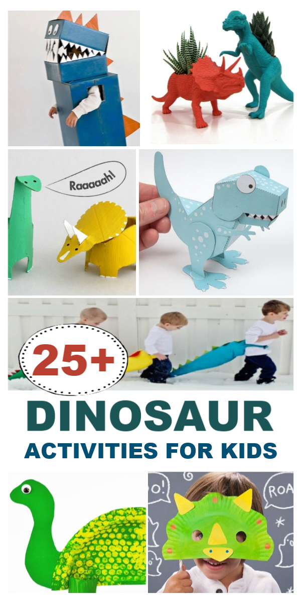 35+ Dinosaur activities and crafts for kids.  Ideas for all ages! #kidsdinosaurcrafts #dinosauractivities #dinosaurcrafts #dinosaurcraftspreschool #dinosaurcraftsforkids #dinosaurparty #dinosaureggs #dinosauractivitiespreschool #dinosaurkidscrafts #kidsactivities #kidscrafts #growingajewledrose