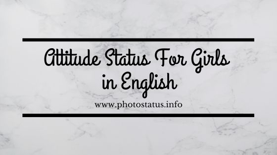 Attitude Status for Girls in English