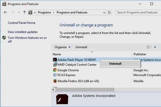 صورة Uninstall or change a program