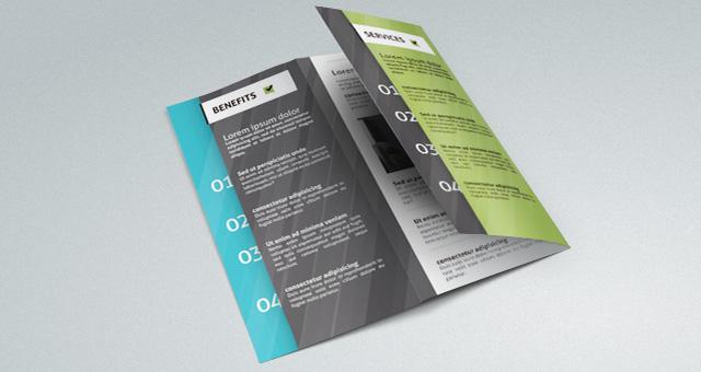 Excelente Plantillas de folletos archivos PSD y Corel draw