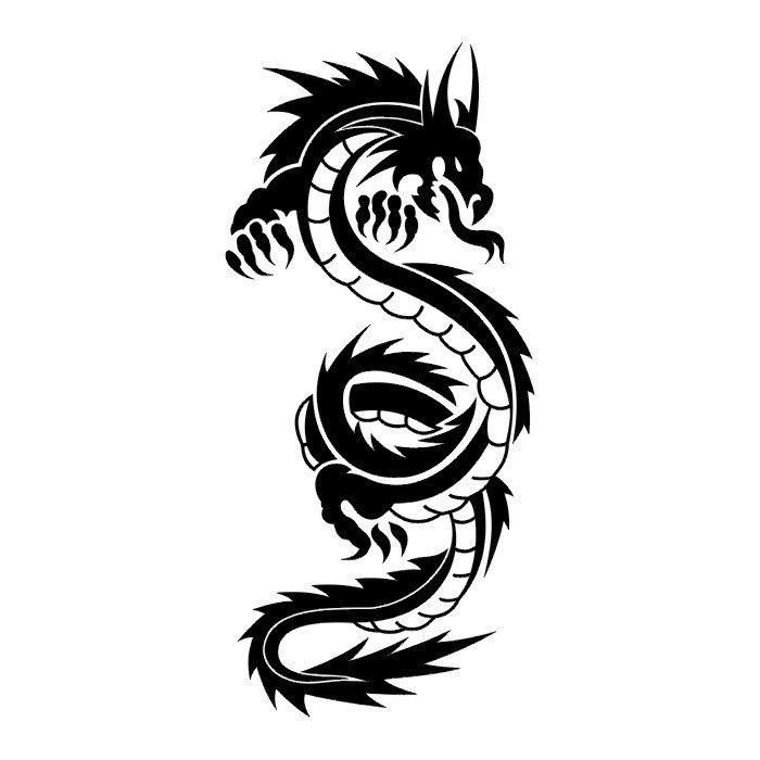 32+ Simple Tribal Dragon Tattoos  Tribal Art Dragon Simple