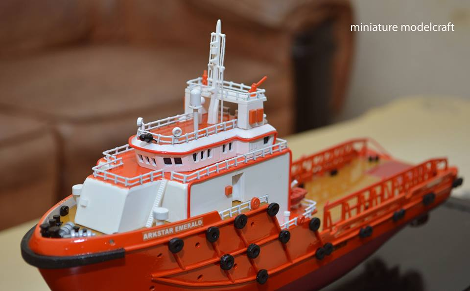desain sketsa miniatur kapal ahts arkstar emerald allianz eagle 1 allianz group abu dhabi terbaik