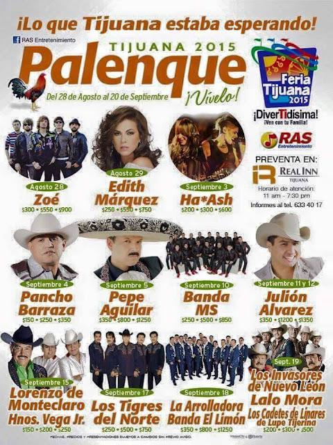 Palenque Tijuana 2015 donde comprar los boletos a la venta buen precio zona VIP