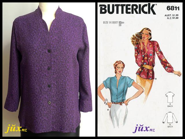 Boredom Busting Purple Shirt - Butterick 6811