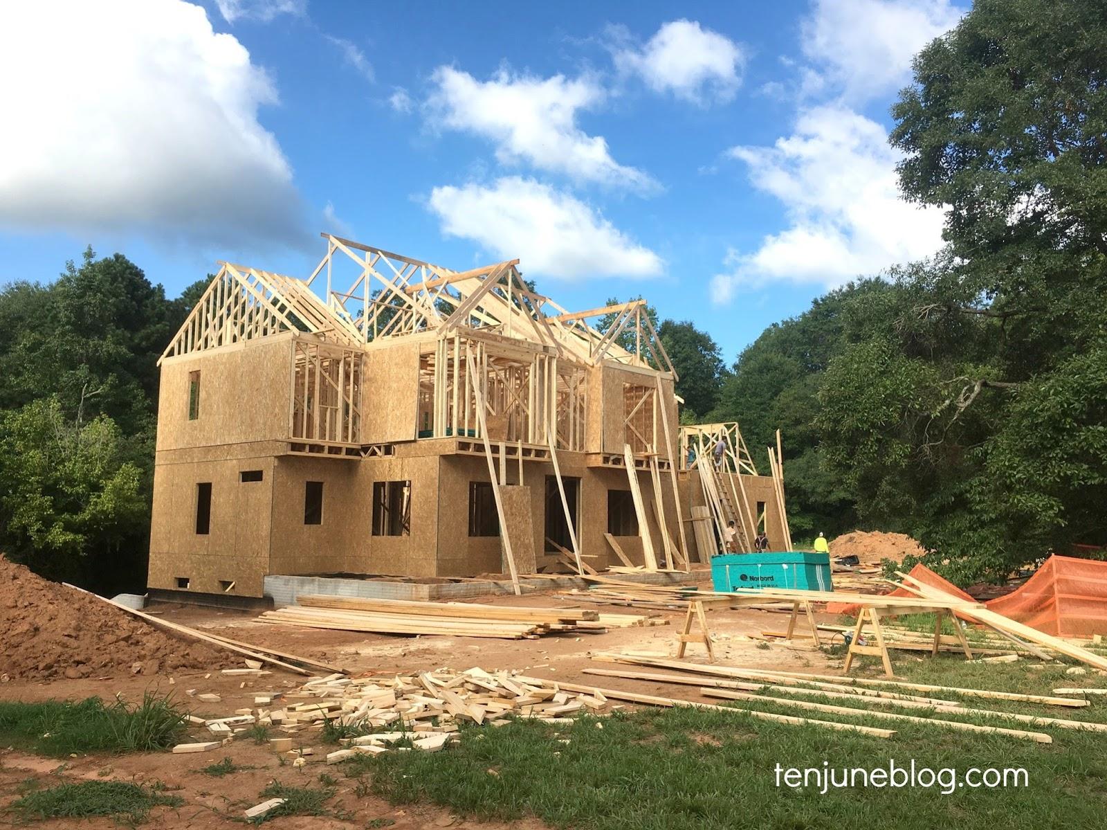 Ten June: Building Our House: Framing