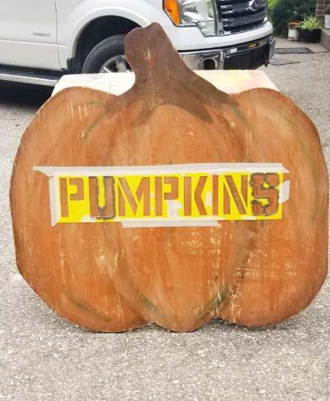 Pumpkin Sign, Bliss-Ranch.com