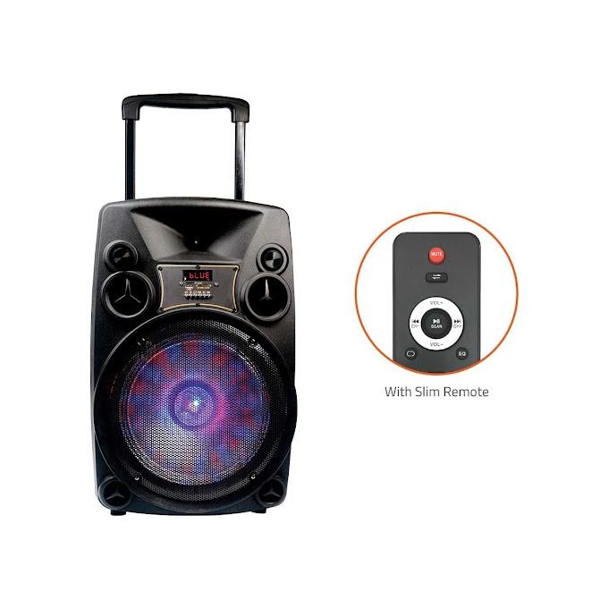 12 Inch Karaoke Bluetooth PA System Portable Trolley Speaker