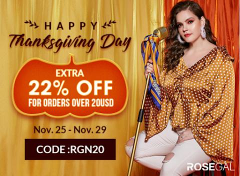 Rosegal Thanksgiving Day