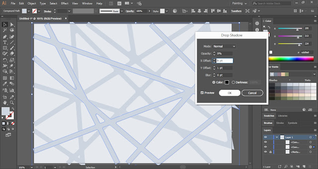 Line Web Background in Adobe Illustrator