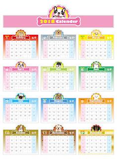 2018カレンダー無料テンプレート003