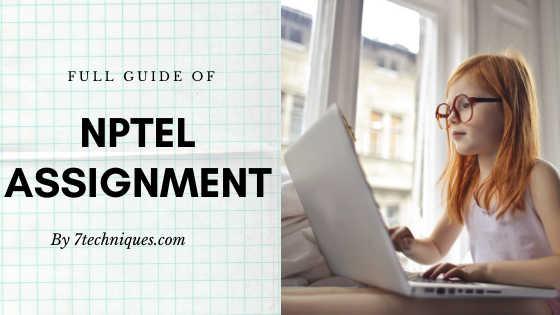 NPTEL Assignment