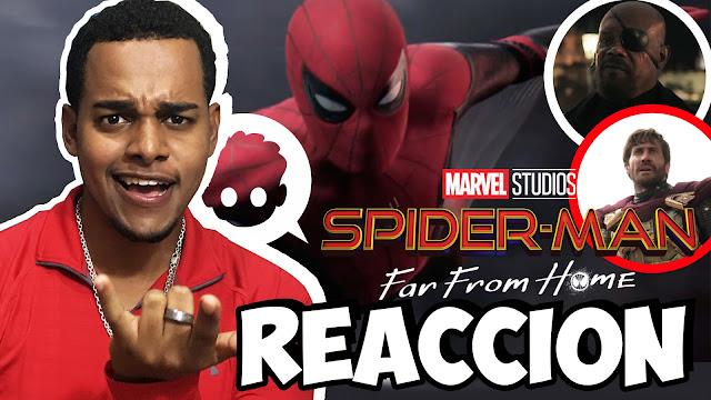 Reacción trailer de spider-man far from home / por jotape