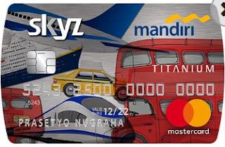 Gambar Kartu Kredit Mandiri Skyz Card