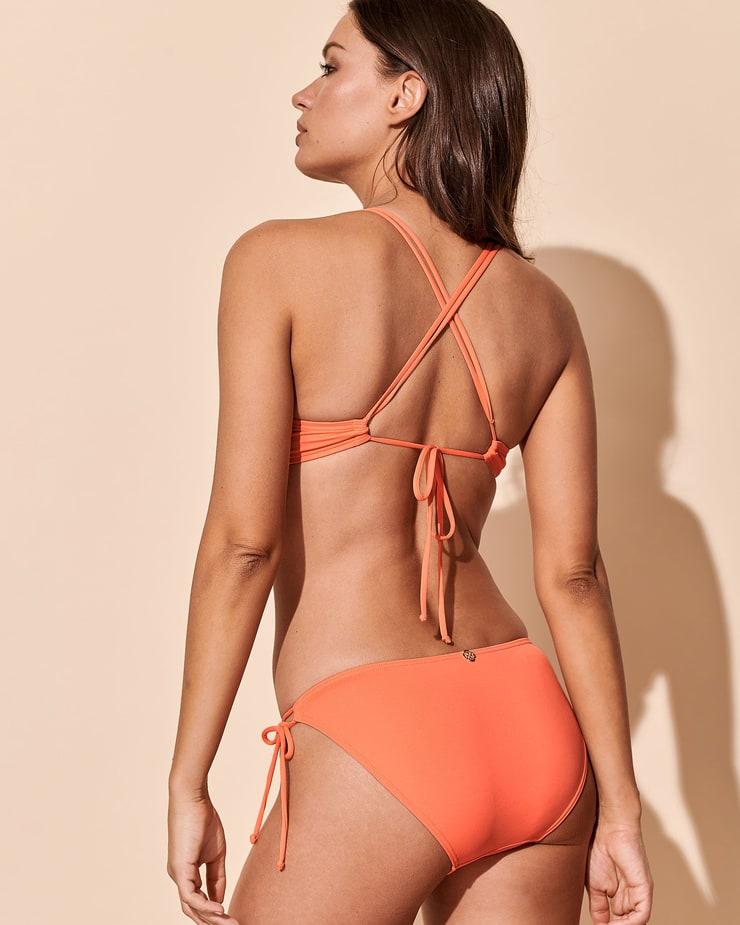 Michea Crawford Hot Ass Show in Orange Bikini Photoshoot
