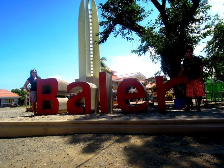 Town marker of Baler