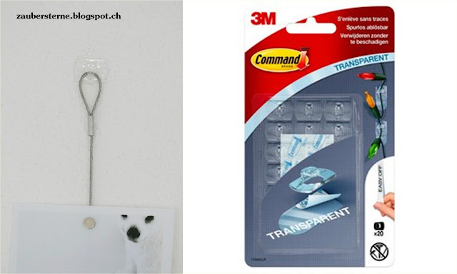transparente Haken, Deko Clips, Command Strips, 3M