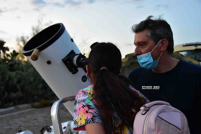 Μαθητές του 5ου Δημοτικού Σχολείου Ναυπλίου γνώρισαν τους πλανήτες μέσα από τηλεσκόπια