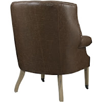Brown Vinyl Lounge Chair