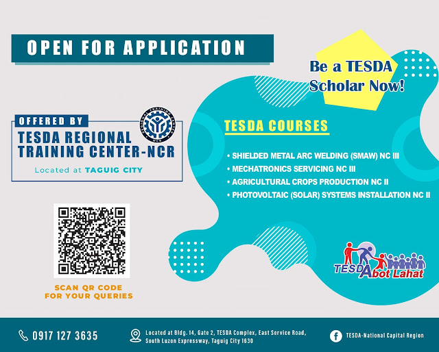 Free tesda courses NCR