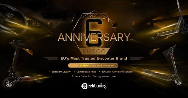 6º Aniversário de uma das melhores marcas de E-Scooter - Kugoo