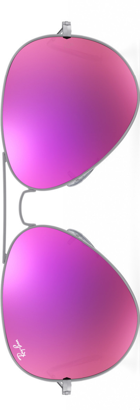 Ray-Ban Aviator Sunglasses Customized Magenta Flash