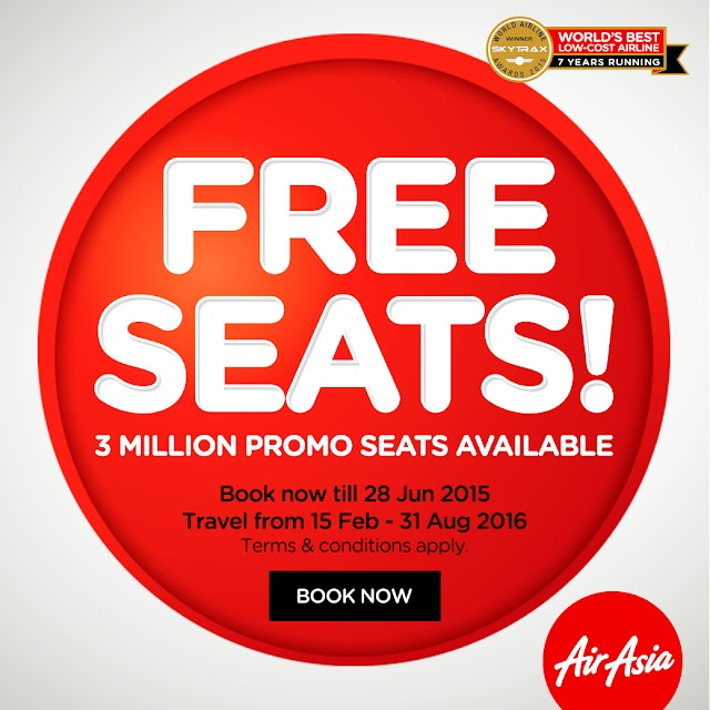AirAsia Free Seats! Book now until June 28, 2015 !