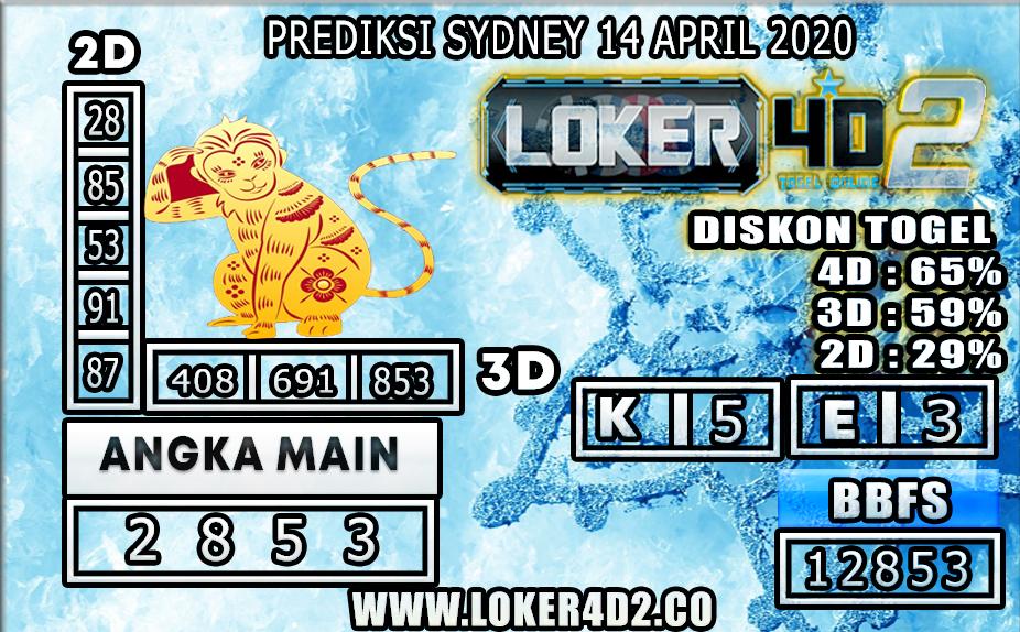 PREDIKSI TOGEL SYDNEY LOKER4D2 14 APRIL 2020