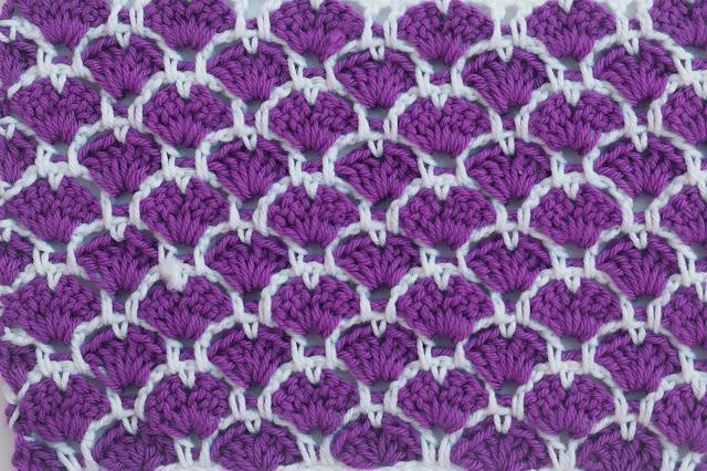 2 - Crochet Imagen Puntada a crochet de corazones y abanicos por Majovel Crochet