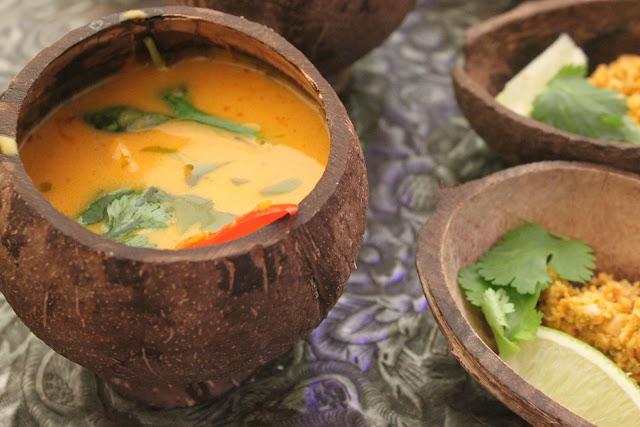 South Seas soup with coconut sambal