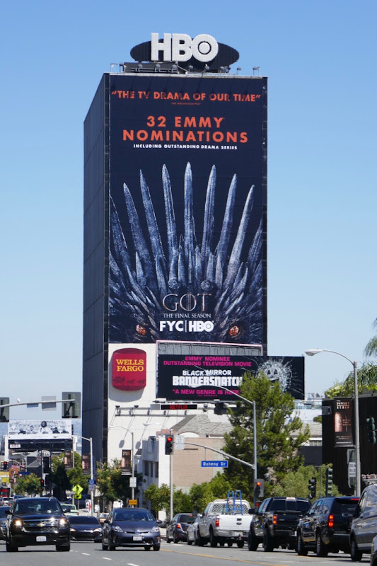 Giant Game of Thrones final season Emmy nominee billboard