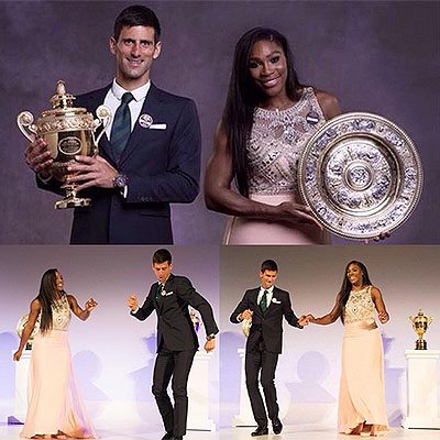 Serena Williams and Novak Djokovic proved to be not only the world's best tennis players