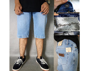 celana jeans wrangler, celana jeans pendek, celana pendek pria, celana jeans pendek pria
