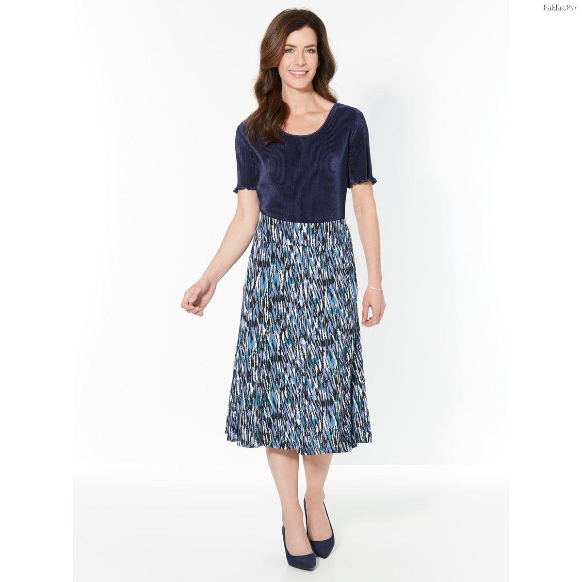0085dcb9e Faldas Abajo de la Rodilla ¡Bonitos Modelos!   Faldas   Moda 2019 - 2020