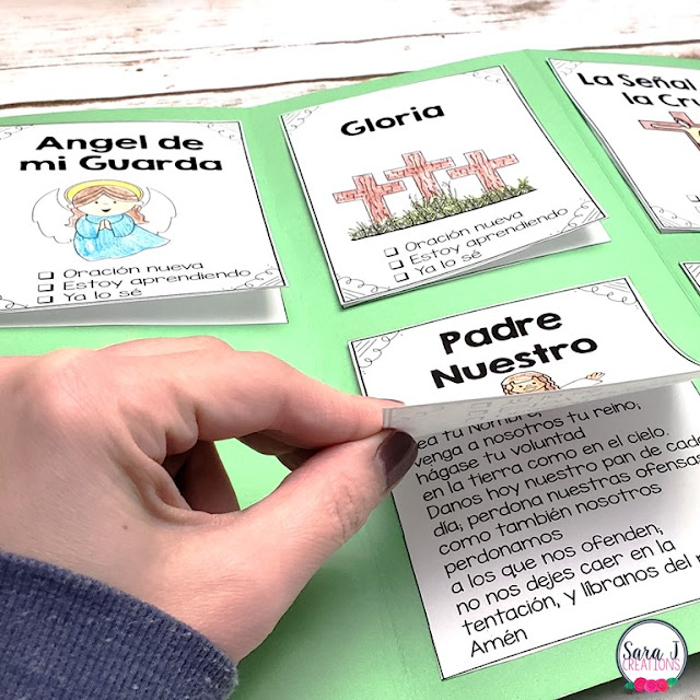 Catholic prayer lapbook in spanish