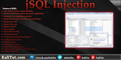JSQL injection Kali linux