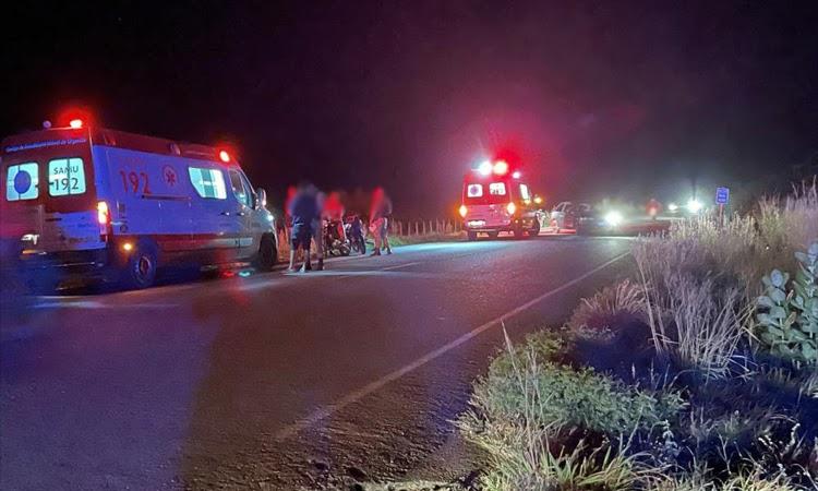 Três pessoas ficaram feridas após colisão entre duas motocicletas na Chapada Diamantina