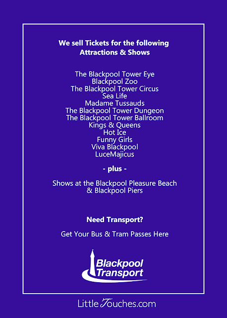Save up to 50% on Blackpool Attraction and Show Tickets - Little Touches New Leaflet