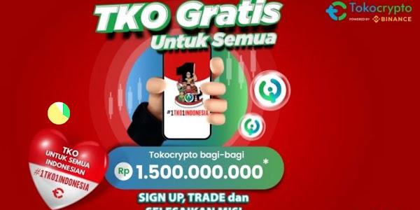 Hadiah Token TKO Total Senilai Rp 1.500.000.000 dari Tokocrypto