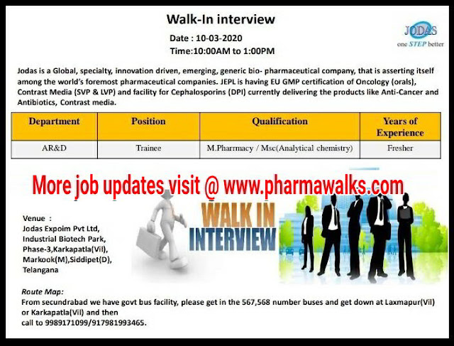 Jodas Expoim Walk-in interview for Freshers - AR&D on 10th March, 2020