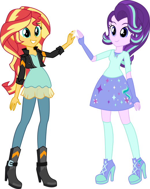EqG Sunset and Starlight (COMMISSION)