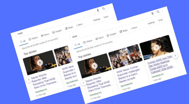 google news tab
