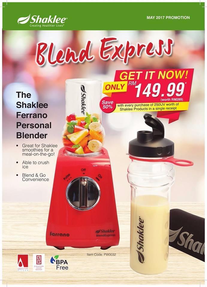 Promosi Blender Paling Cool Dari Shaklee