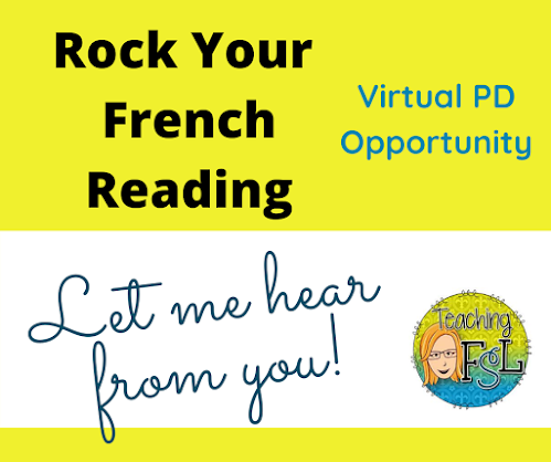 Teaching FSL's Rock Your French Reading PD session