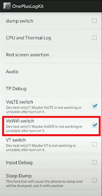 how to turn off wifi calling on Oneplus