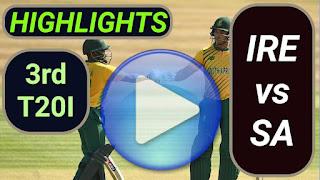 IRE vs SA 3rd T20I 2021