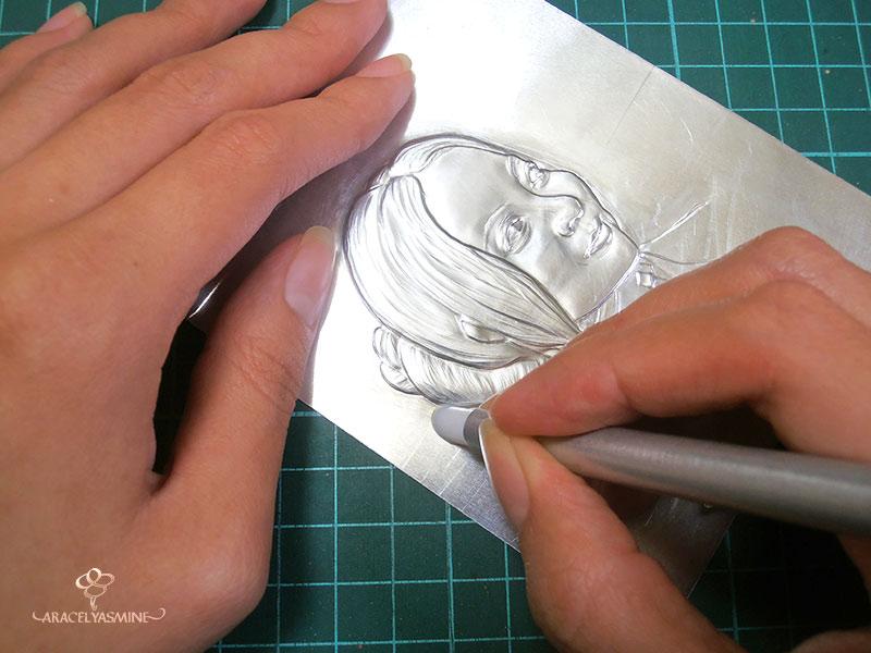 3 tecnicas basicas para empezar a repujar en aluminio