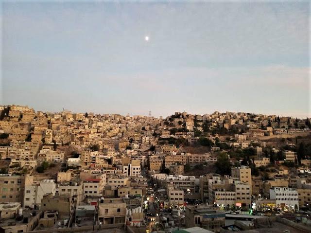 tramonto su Amman